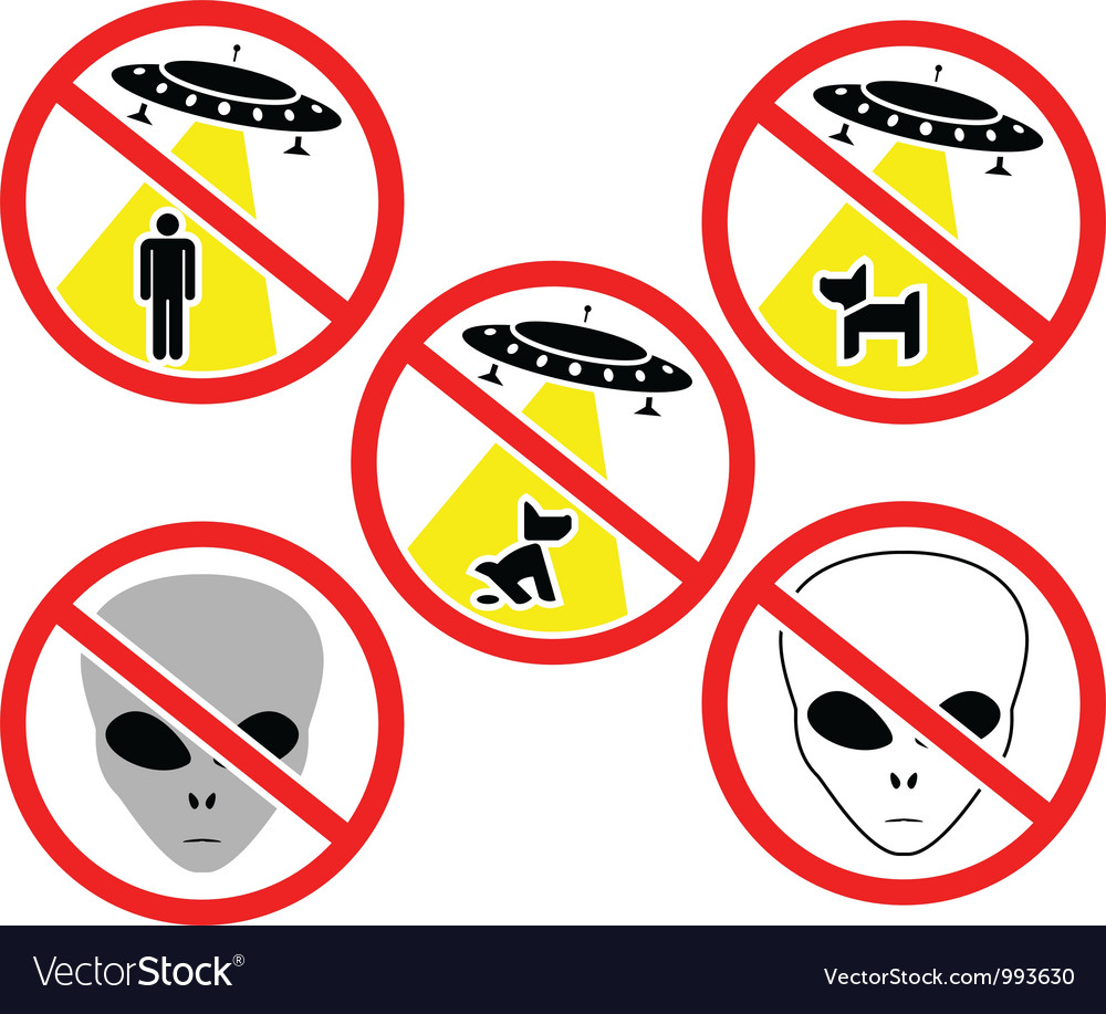 Ufo warning signs vector | Price: 1 Credit (USD $1)