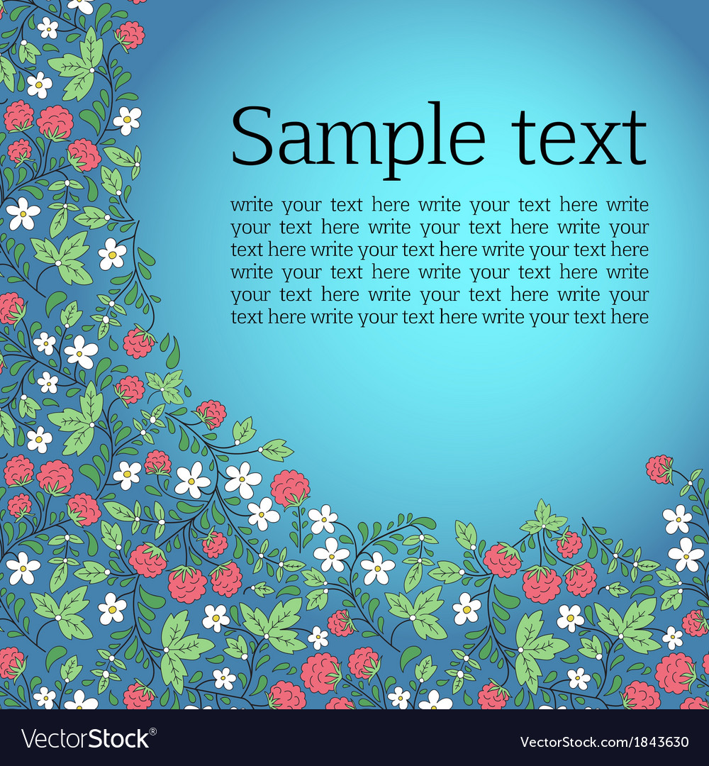 Vignette for text with leaves and raspberry vector | Price: 1 Credit (USD $1)