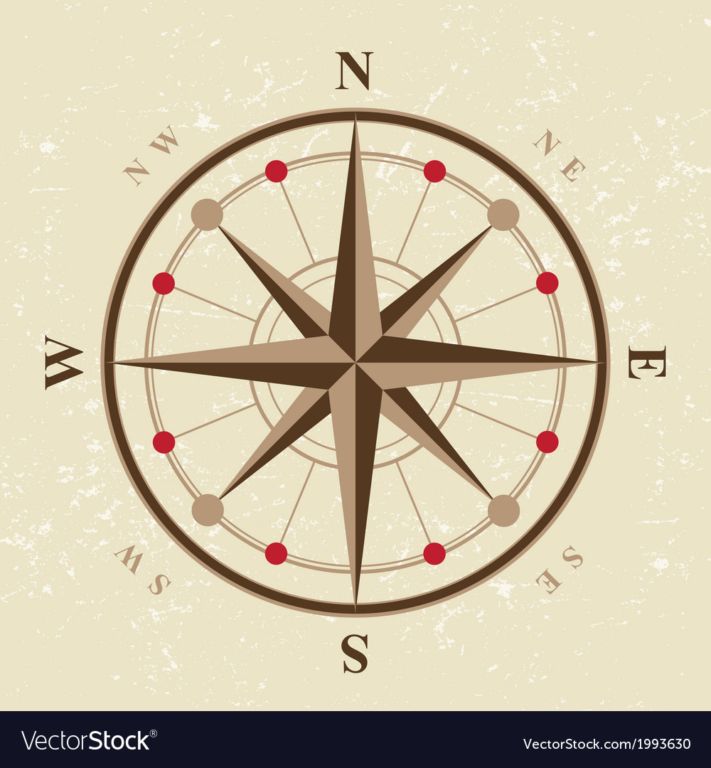 Vintage compass icon vector | Price: 1 Credit (USD $1)