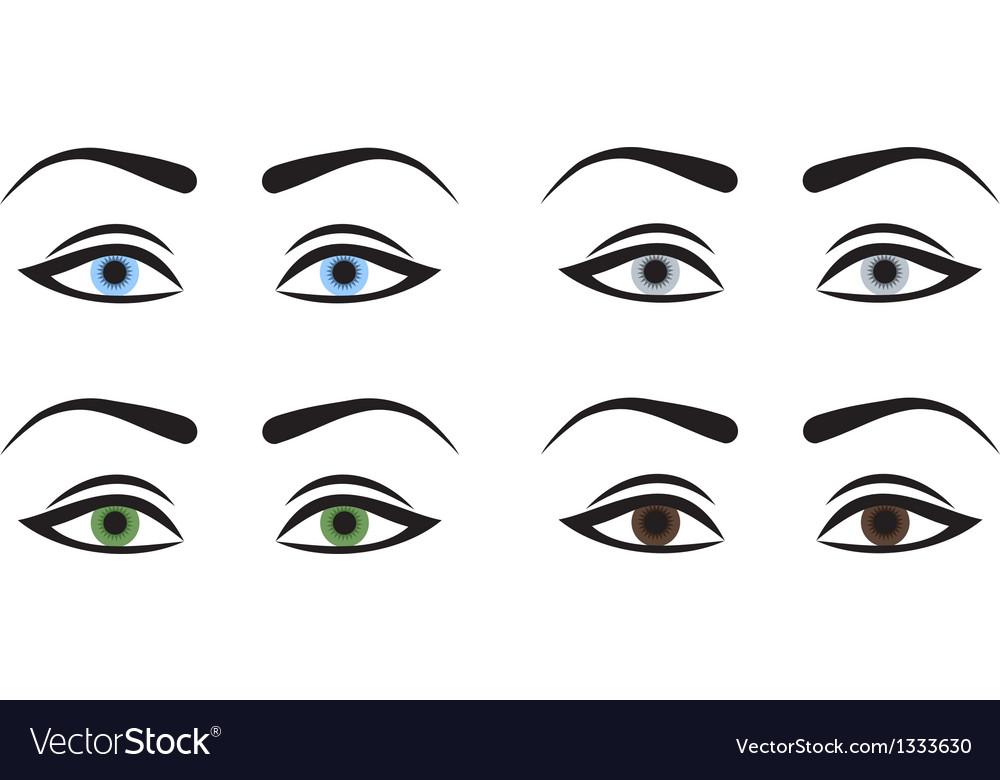 Woman eyes vector | Price: 1 Credit (USD $1)