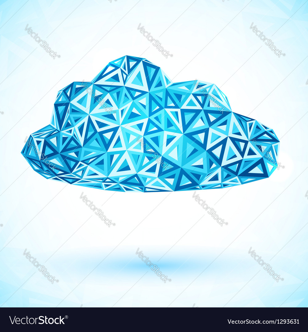Abstract triangles isolated cloud vector | Price: 1 Credit (USD $1)