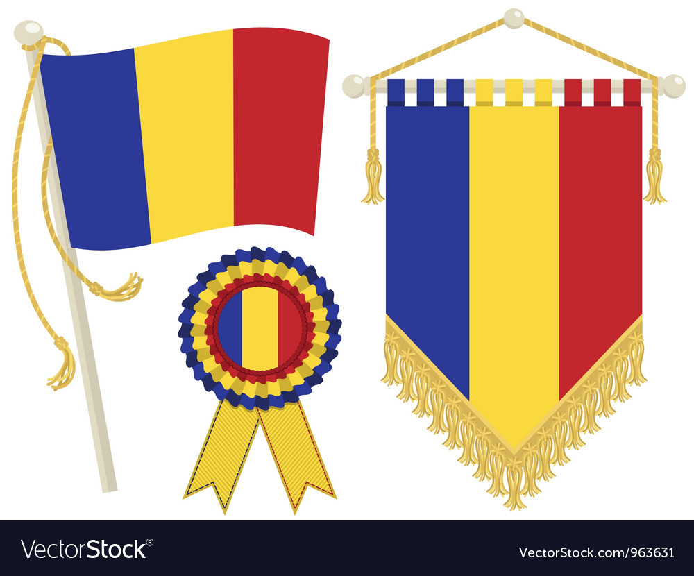Chad flags vector   Price: 1 Credit (USD $1)