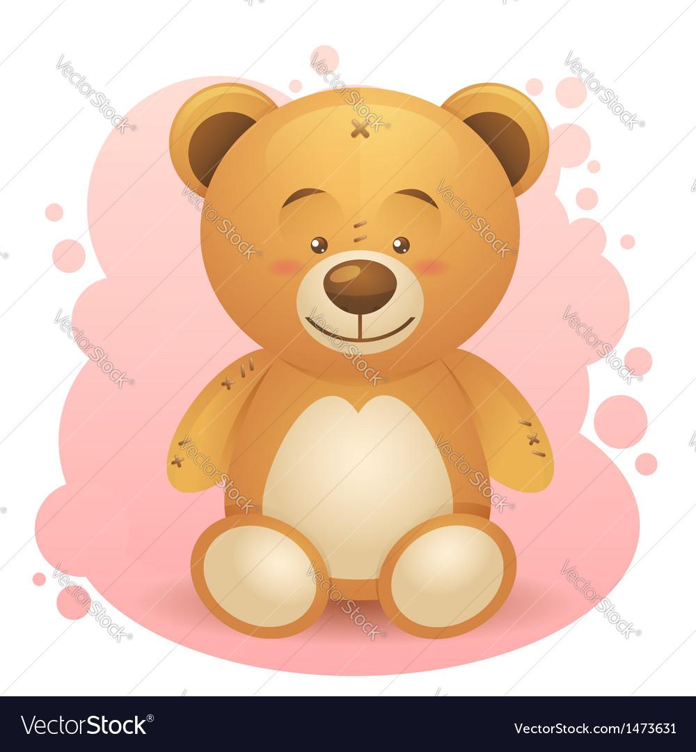 Cute teddy bear children toy vector | Price: 1 Credit (USD $1)