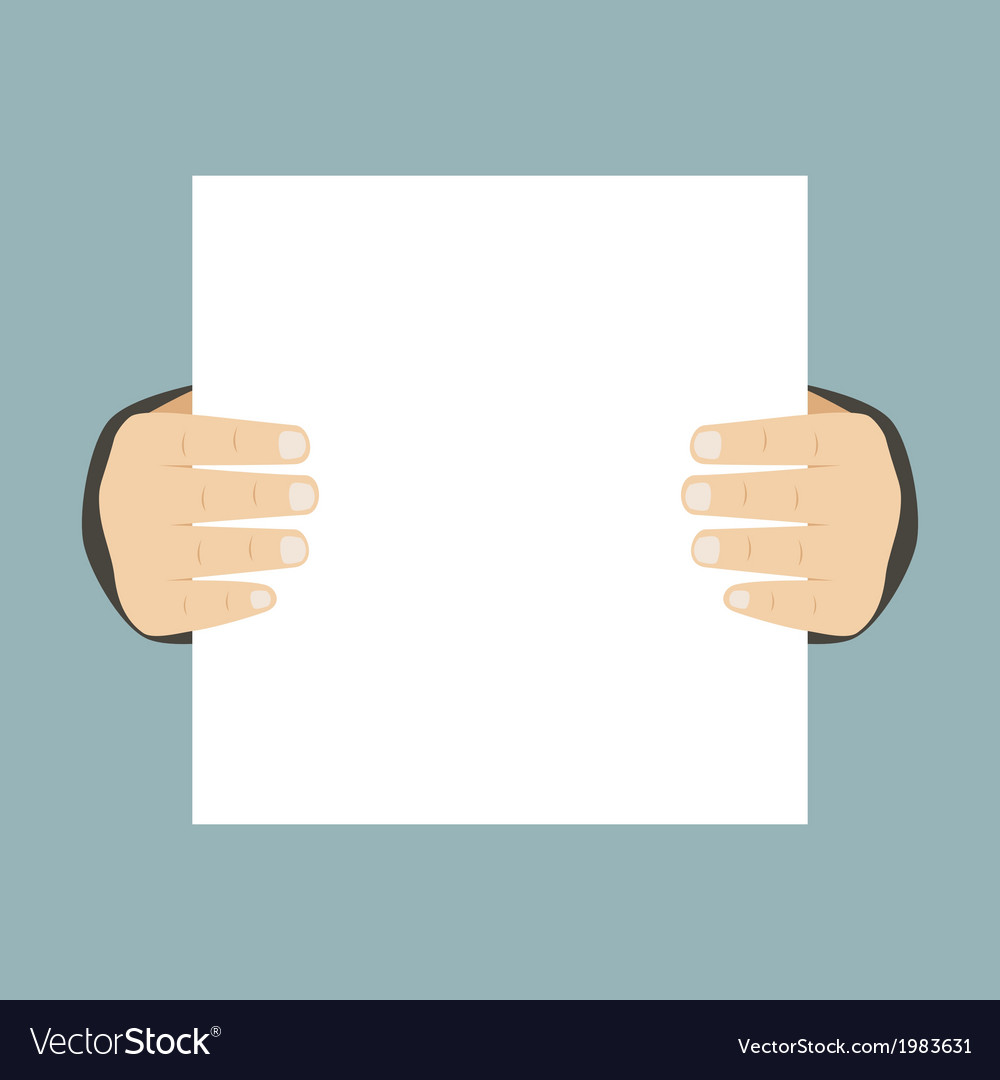 Flat design business hands holding paper for vector | Price: 1 Credit (USD $1)