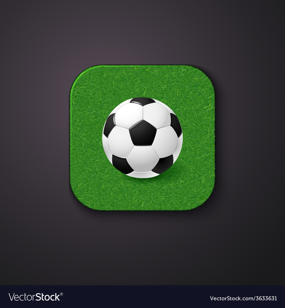 Football soccer icon stylized like mobile app vector | Price: 1 Credit (USD $1)