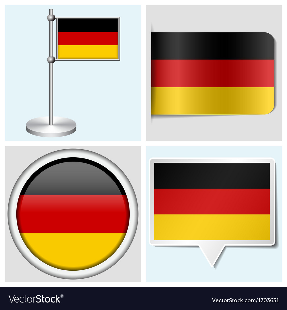 Germany flag - sticker button label flagstaff vector | Price: 1 Credit (USD $1)