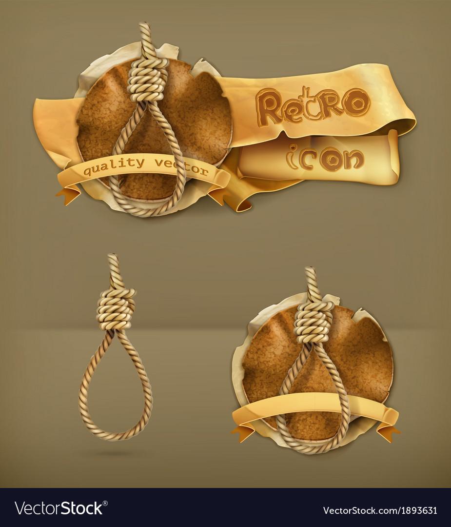 Hangman knot icon vector | Price: 1 Credit (USD $1)
