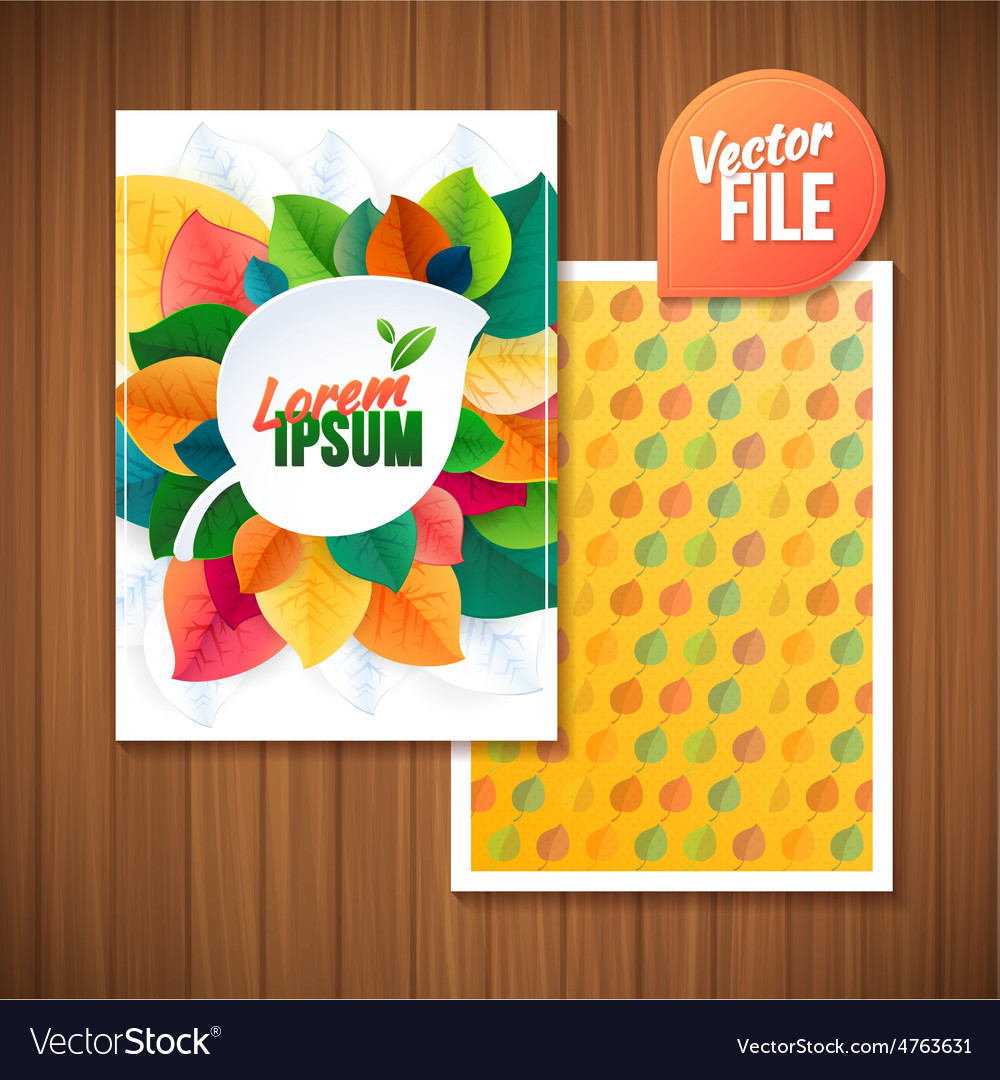Nature rainbow leaves leaves abstract background vector | Price: 3 Credit (USD $3)