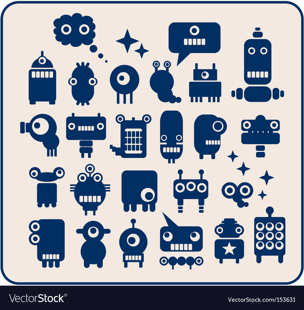 Robots monsters vector | Price: 1 Credit (USD $1)