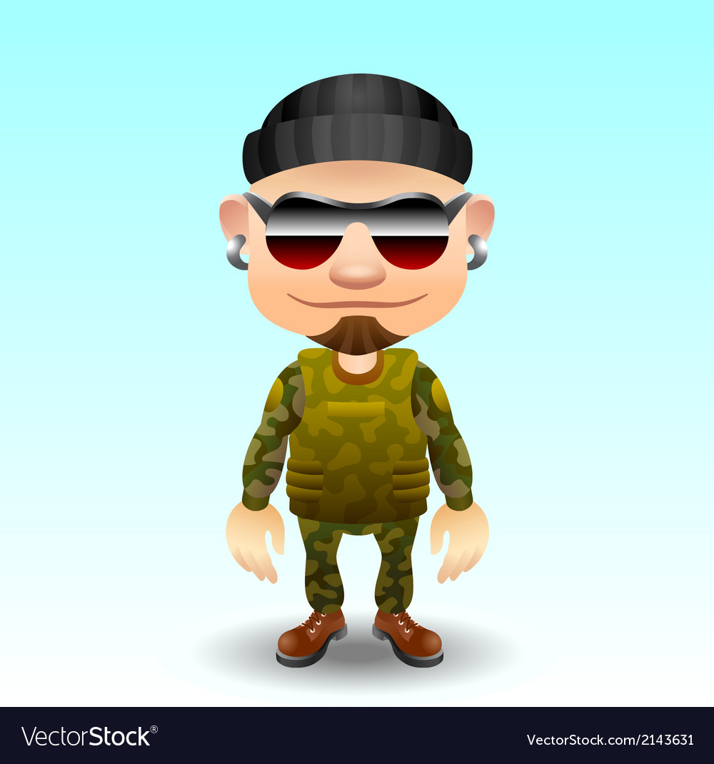 Soldier character vector | Price: 1 Credit (USD $1)