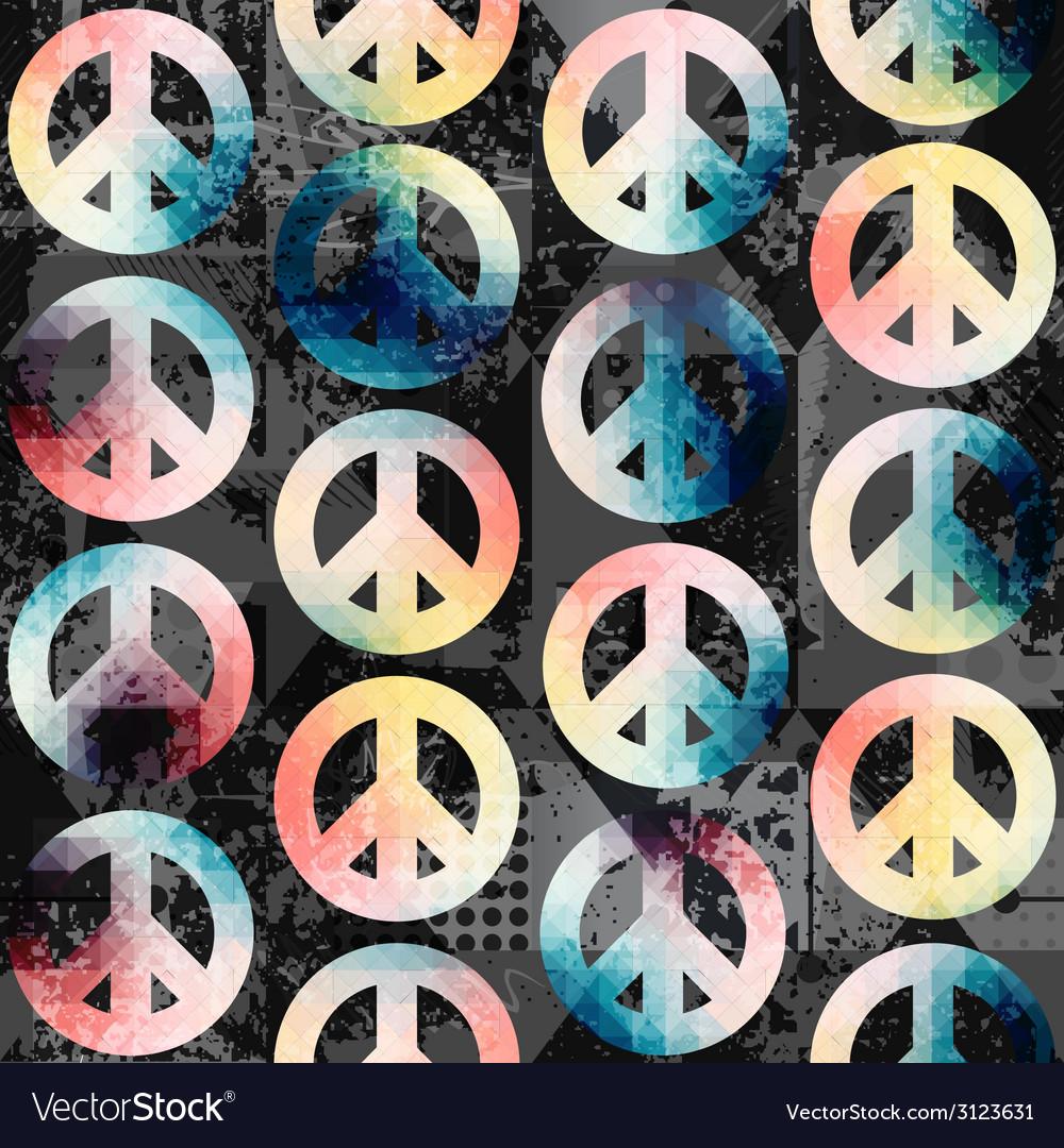 Symbols of pacific retro pattern vector | Price: 1 Credit (USD $1)