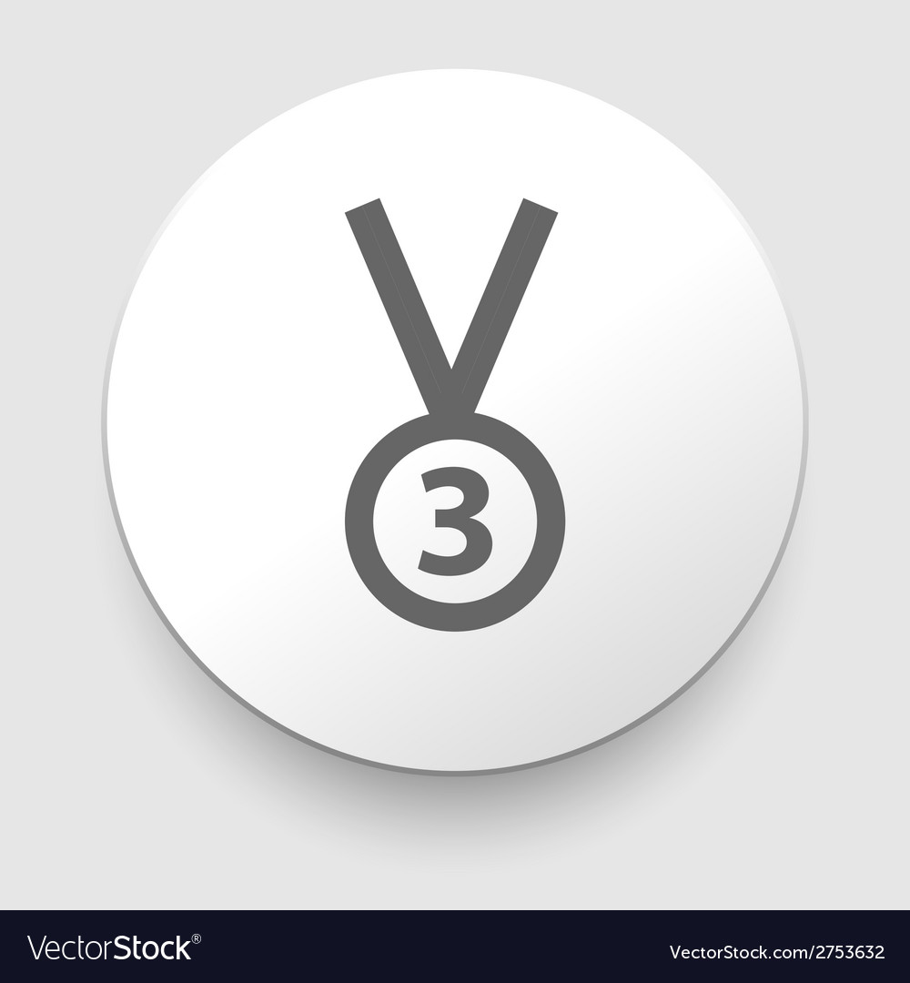 3rd position medal icon - vector | Price: 1 Credit (USD $1)