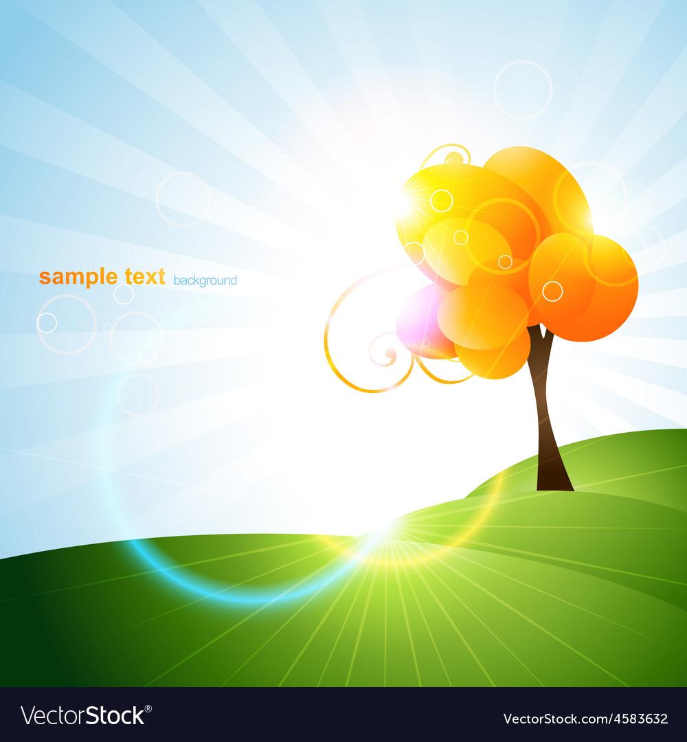 Beautiful tree design vector | Price: 1 Credit (USD $1)