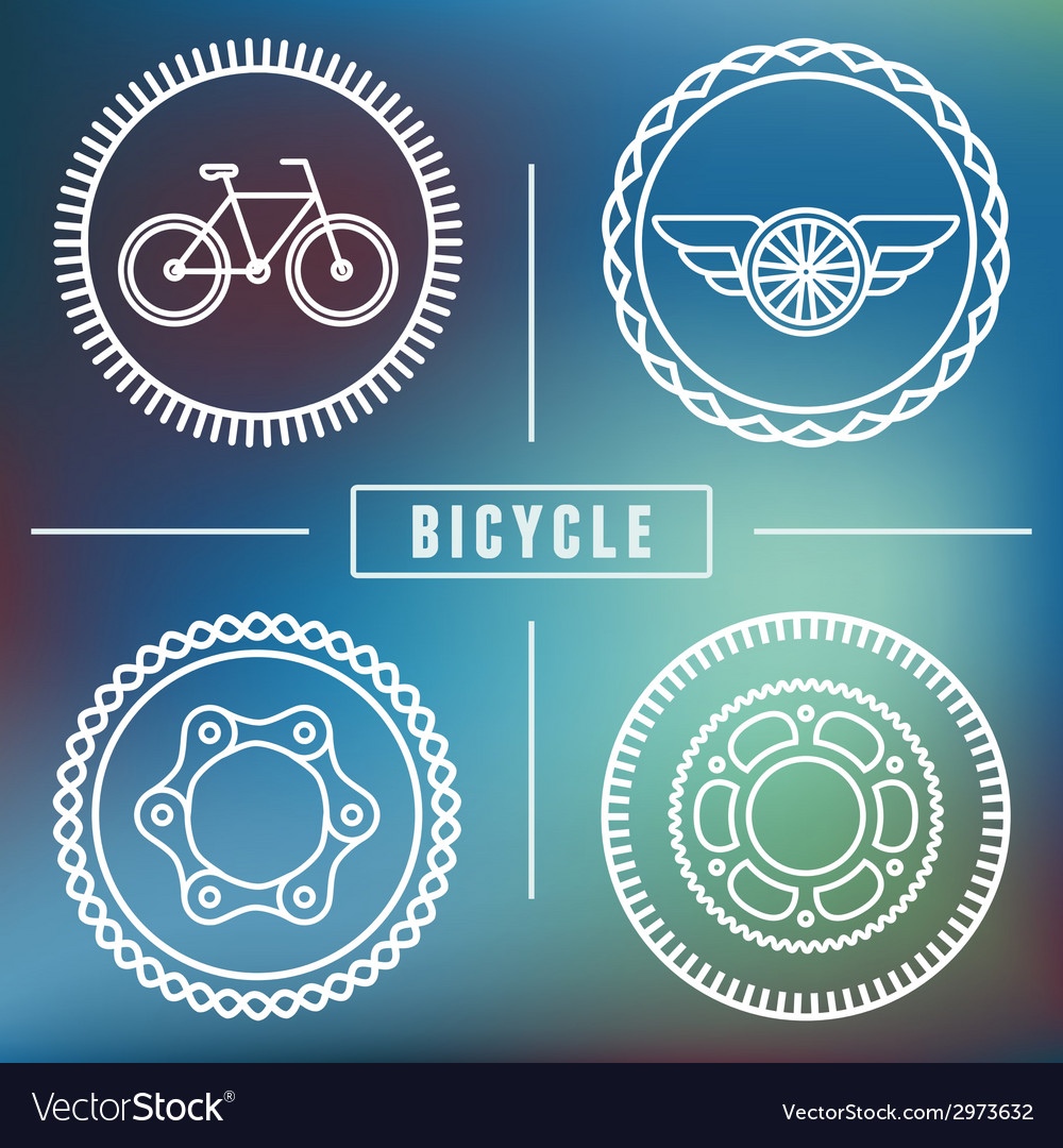 Bike emblems vector | Price: 1 Credit (USD $1)