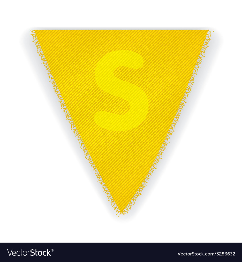Bunting flag letter s vector | Price: 1 Credit (USD $1)