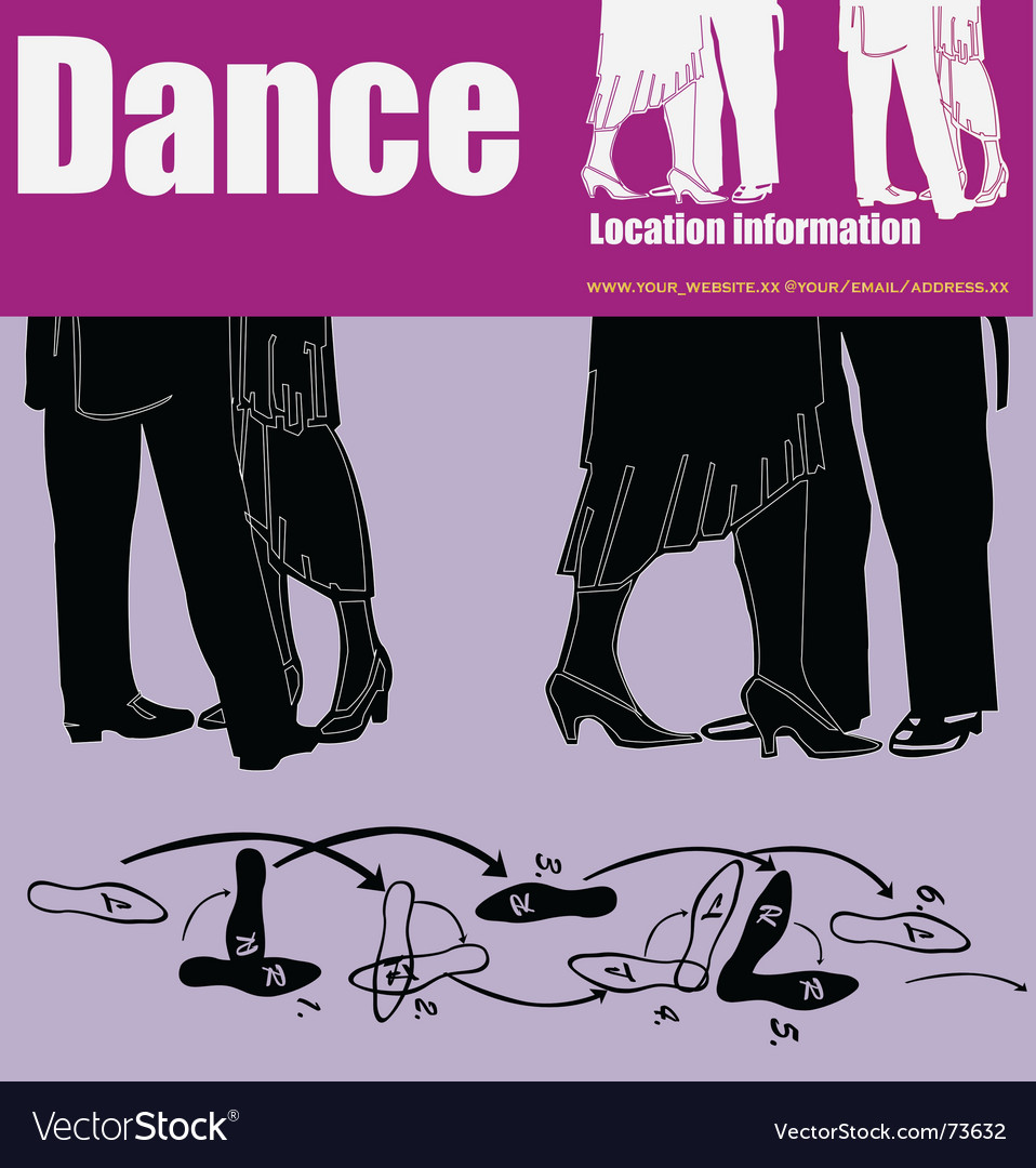 Dance flyer vector