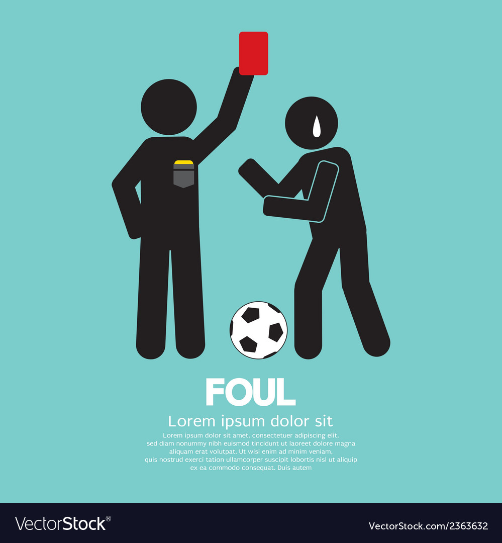 Foul vector | Price: 1 Credit (USD $1)