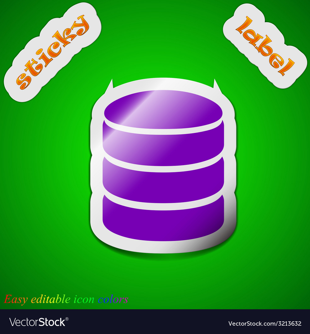 Hard disk and database icon sign symbol chic vector | Price: 1 Credit (USD $1)