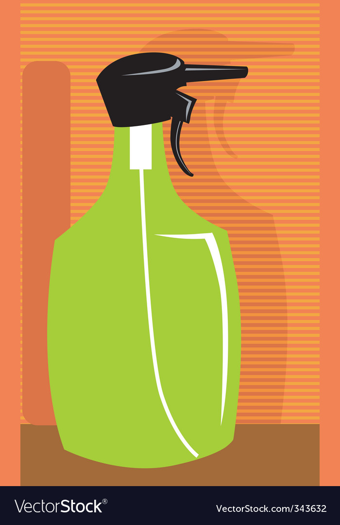 Spray bottle vector | Price: 1 Credit (USD $1)