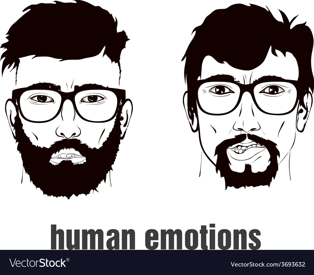 Two heads with emotion vector | Price: 1 Credit (USD $1)