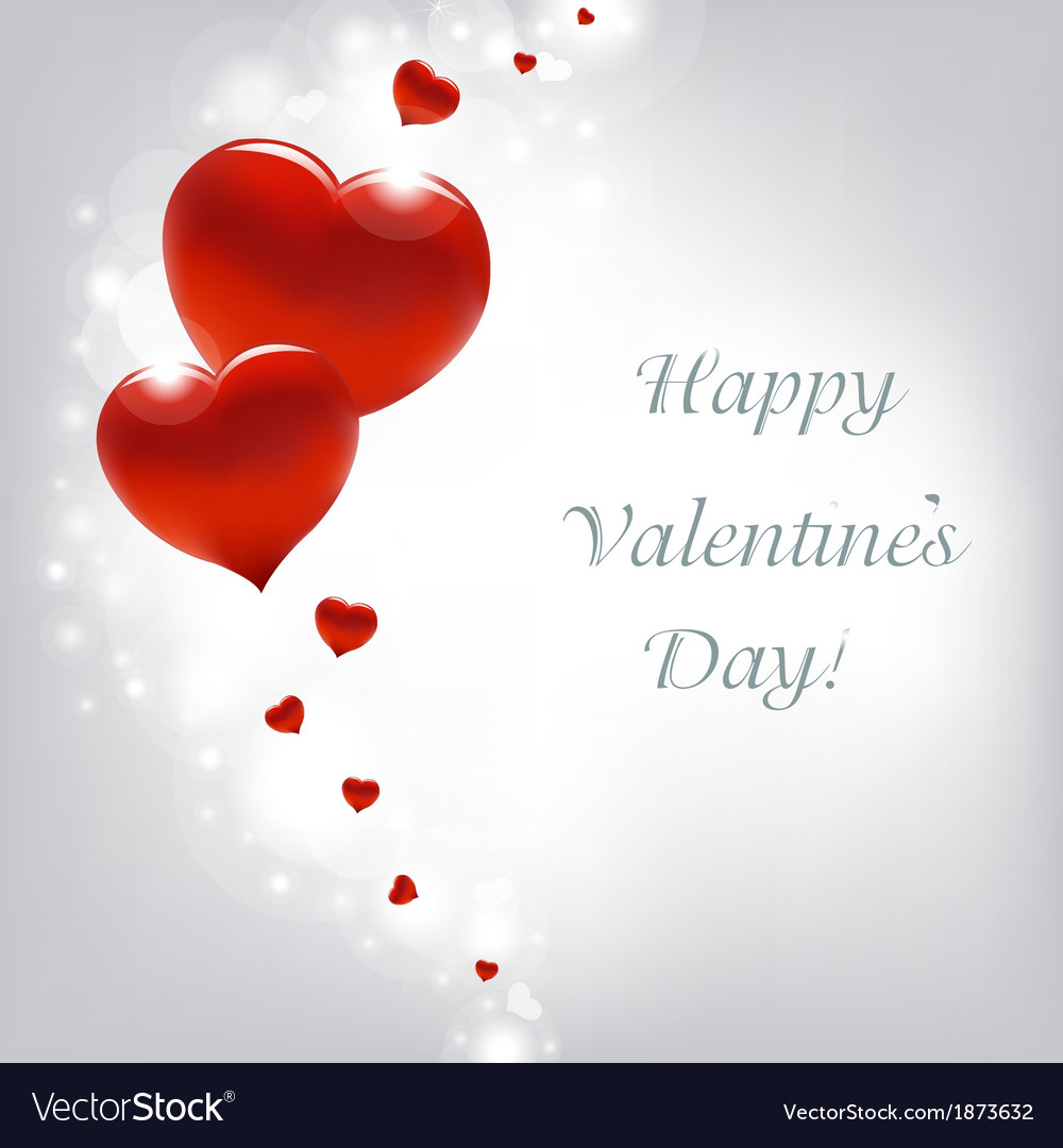 Valentines day card with hearts vector | Price: 1 Credit (USD $1)