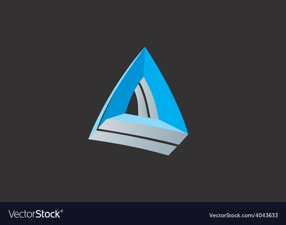 Abstract triangle 3d business logo vector | Price: 1 Credit (USD $1)