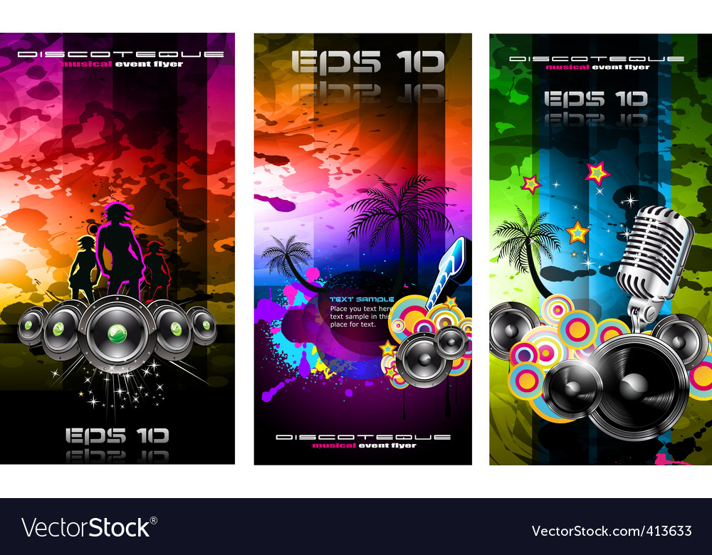 Disco flyers vector | Price: 3 Credit (USD $3)