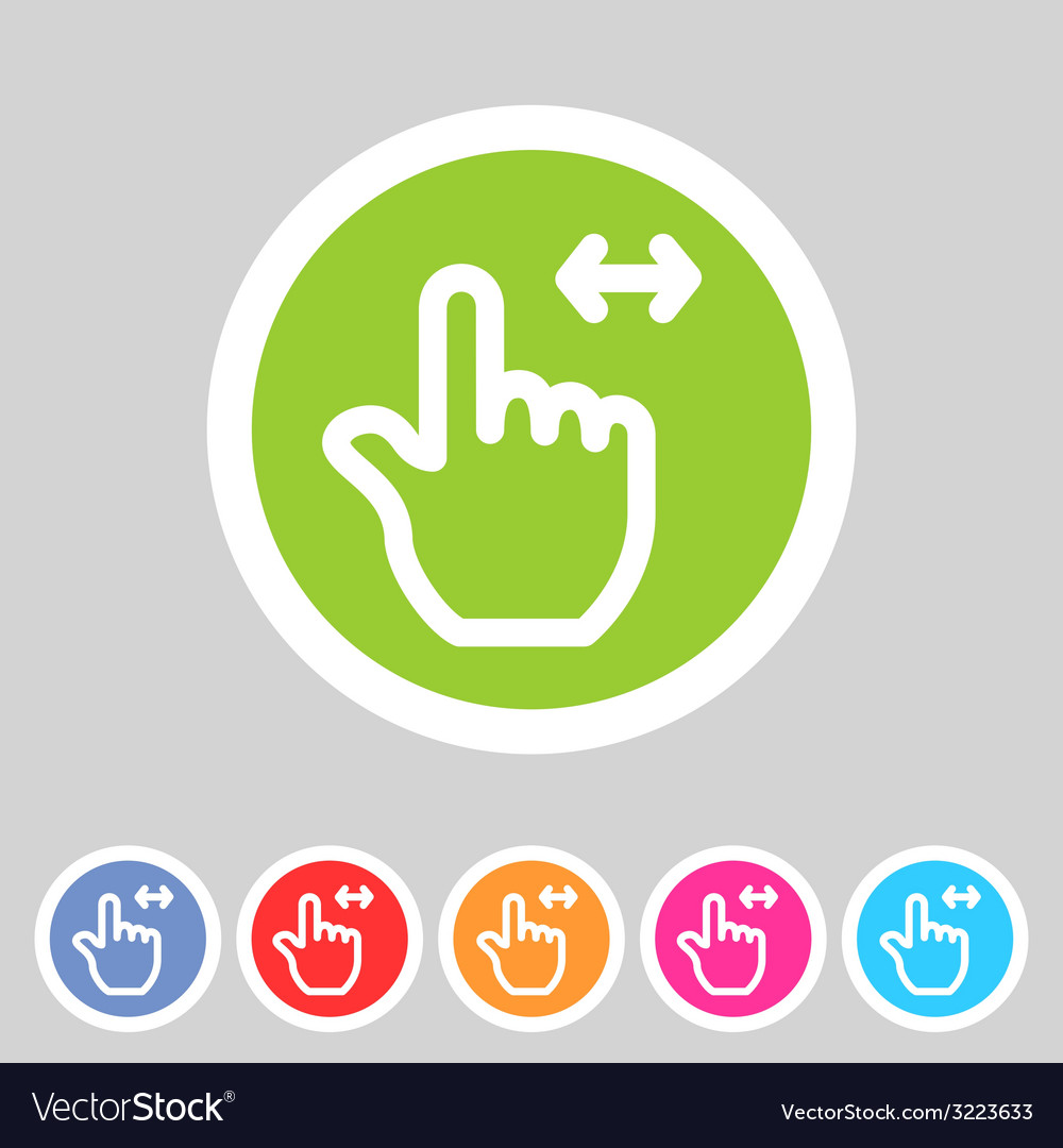 Drag hand flat icon vector | Price: 1 Credit (USD $1)