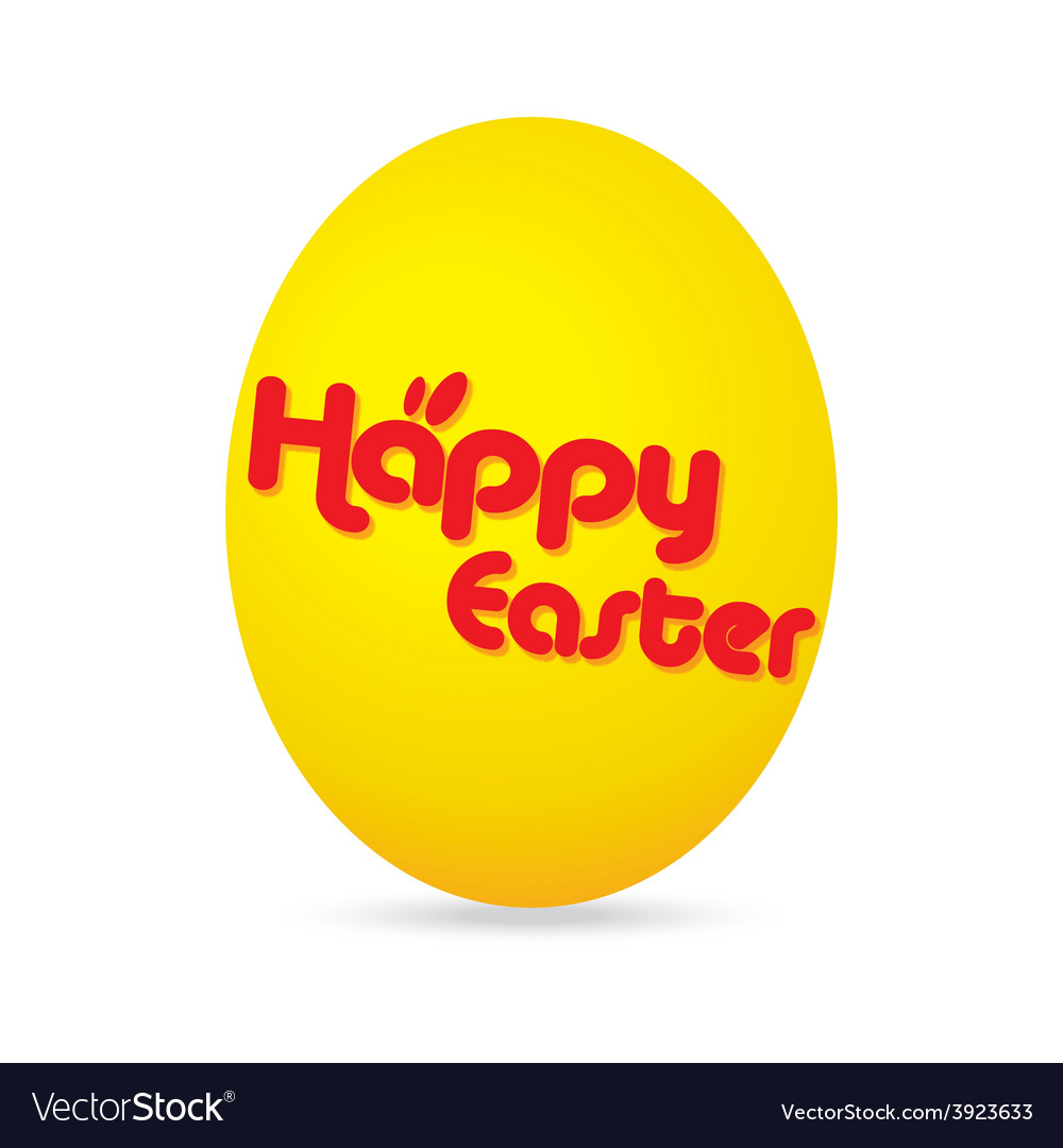 Easter day golden egg cartoon character vector | Price: 1 Credit (USD $1)