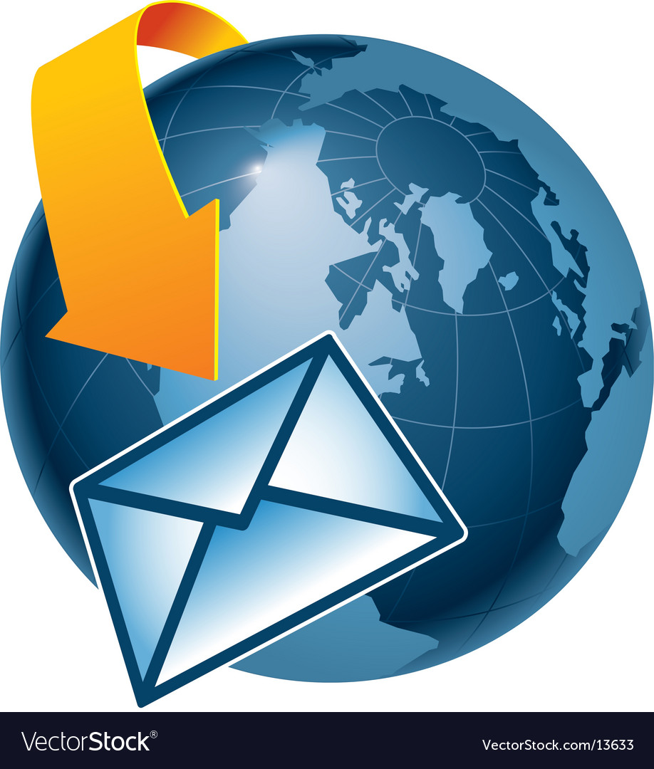 Email globe vector | Price: 1 Credit (USD $1)