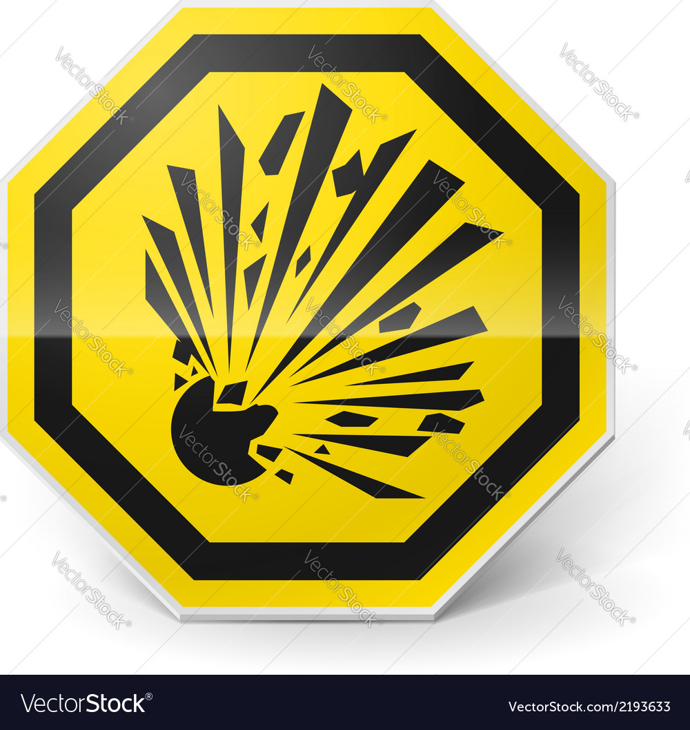Explosion sign vector | Price: 1 Credit (USD $1)