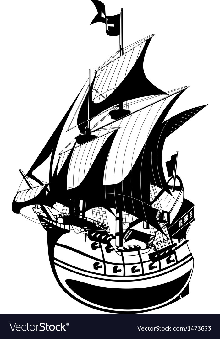 Galleon vector | Price: 1 Credit (USD $1)