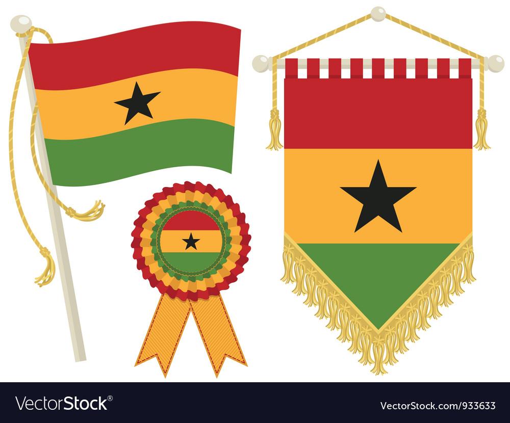Ghana flags vector | Price: 1 Credit (USD $1)