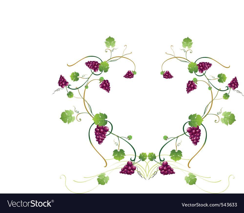 Grape vine frame vector | Price: 1 Credit (USD $1)