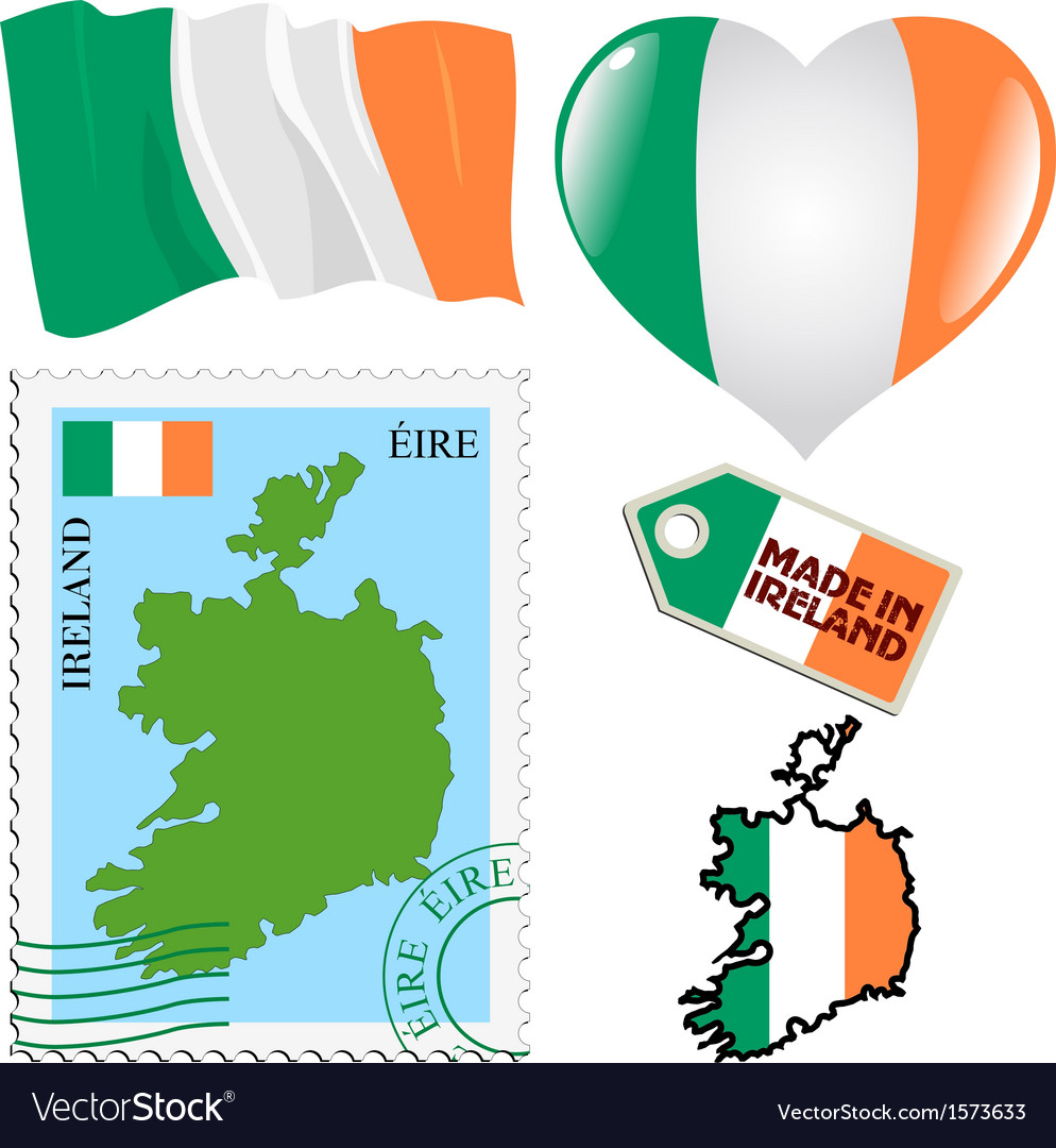 National colours of ireland vector | Price: 1 Credit (USD $1)