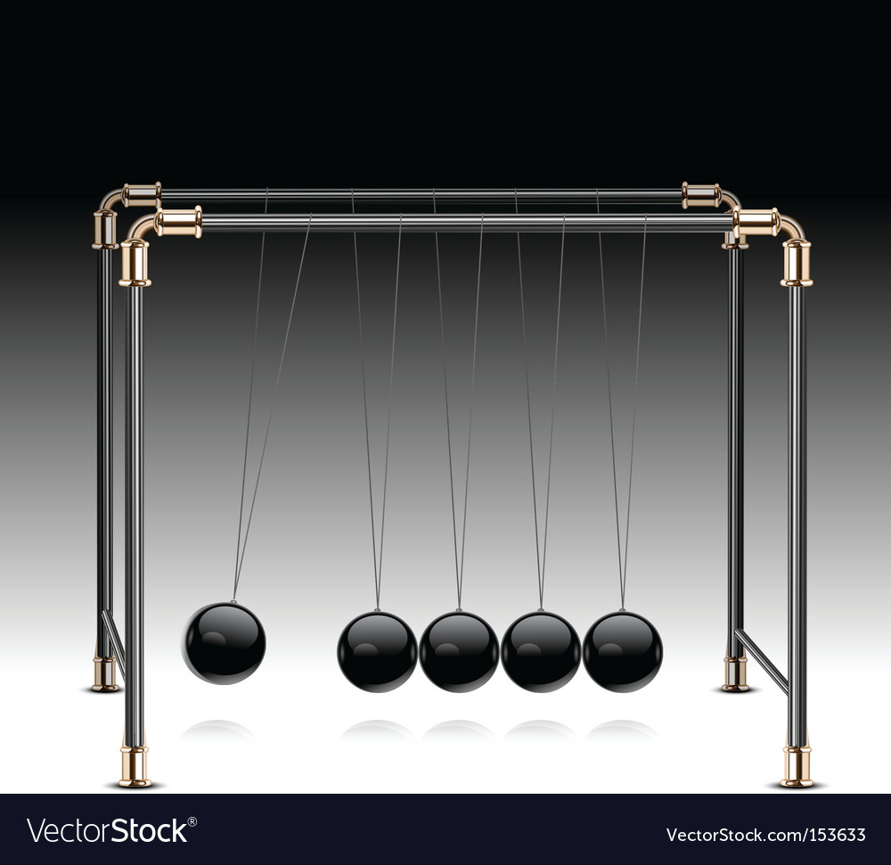 Pendulum on black vector | Price: 1 Credit (USD $1)