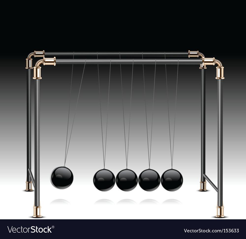 Pendulum on black vector | Price: 1 Credit (USD $1)