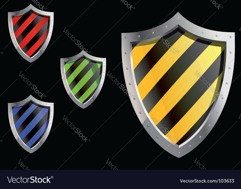 Security sheld icons vector | Price: 1 Credit (USD $1)