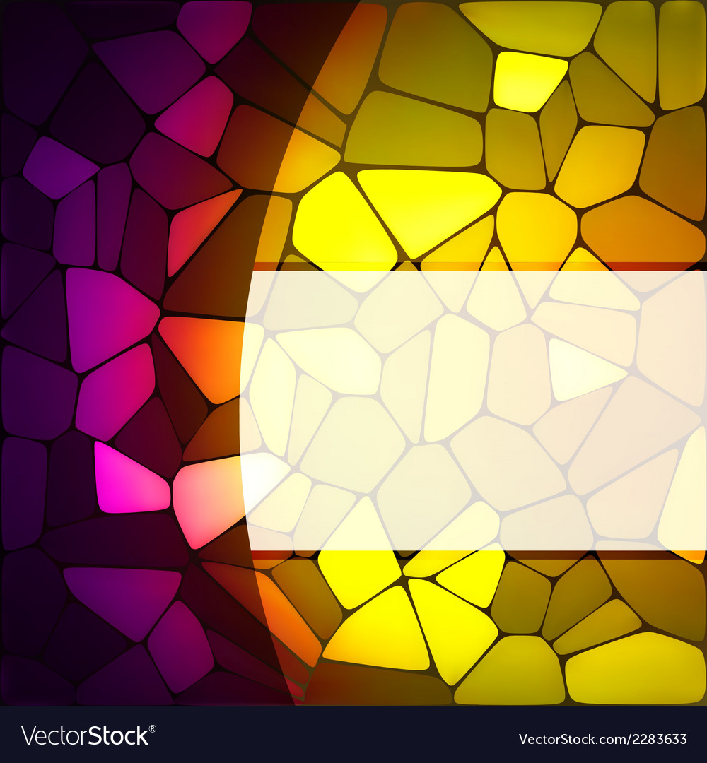 Stained glass design template eps 8 vector | Price: 1 Credit (USD $1)