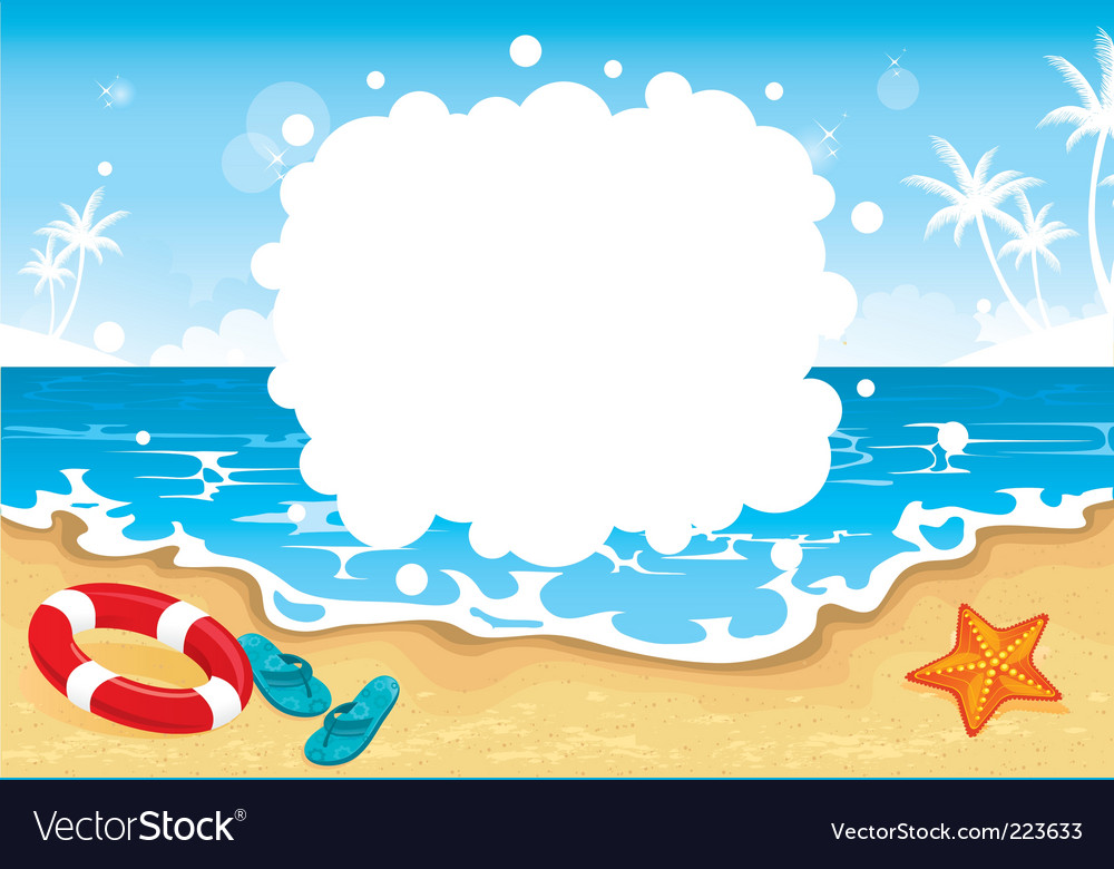 Summer beach tropic vector | Price: 1 Credit (USD $1)