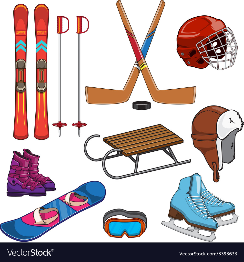Winter sports collection vector | Price: 1 Credit (USD $1)