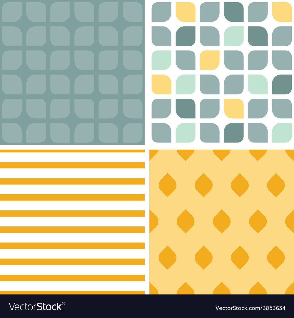 Abstract gray yellow rounded squares set of vector | Price: 1 Credit (USD $1)
