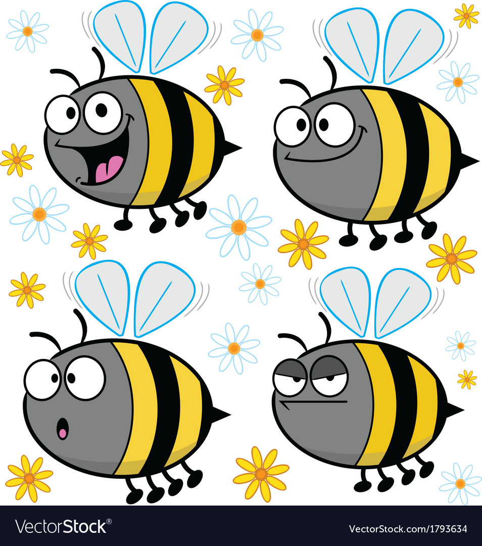 Cartoon bees - assorted vector | Price: 1 Credit (USD $1)
