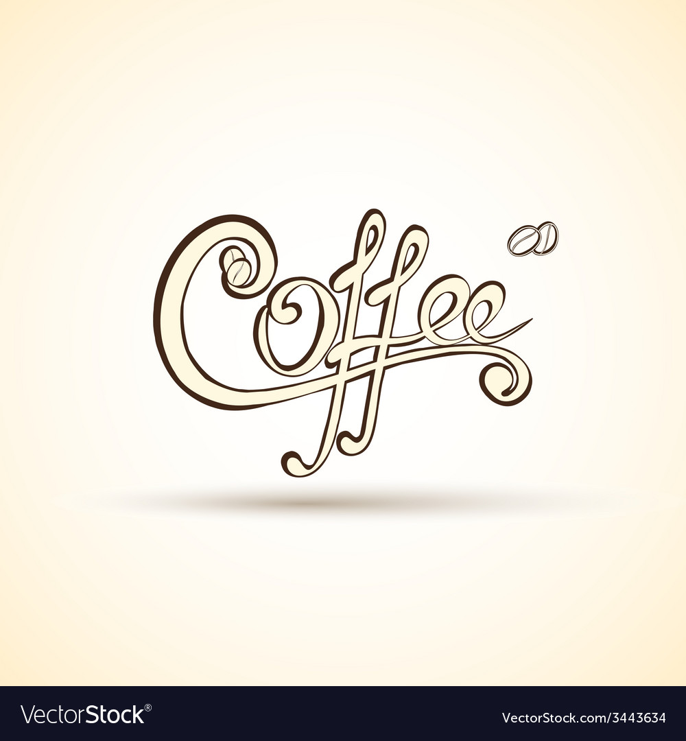 Coffee shop labels with calligraphy vector | Price: 1 Credit (USD $1)