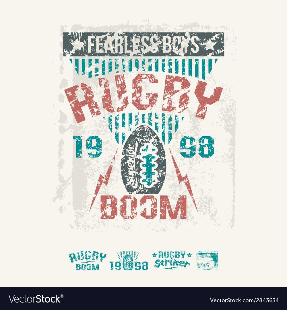 College team rugby retro emblem vector | Price: 1 Credit (USD $1)
