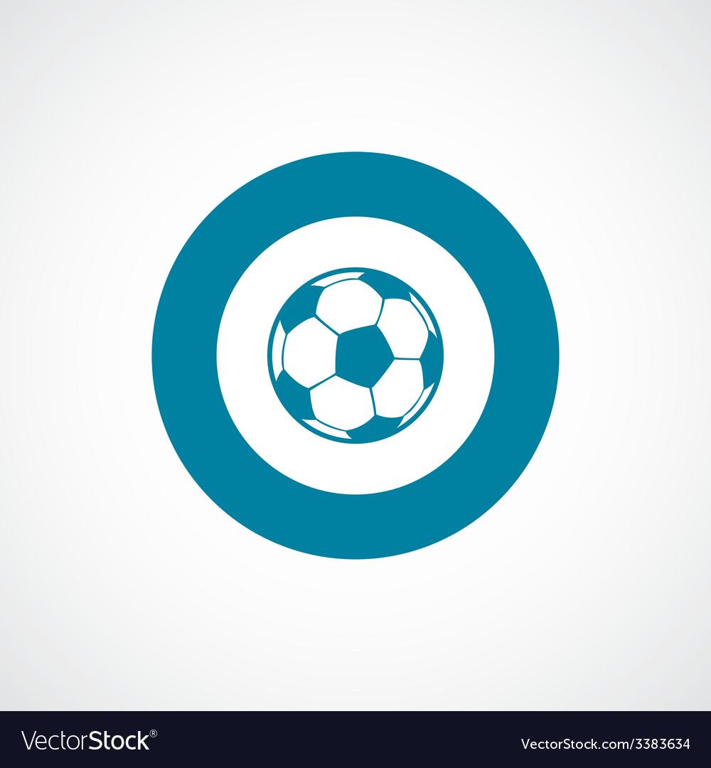 Football ball bold blue border circle icon vector | Price: 1 Credit (USD $1)
