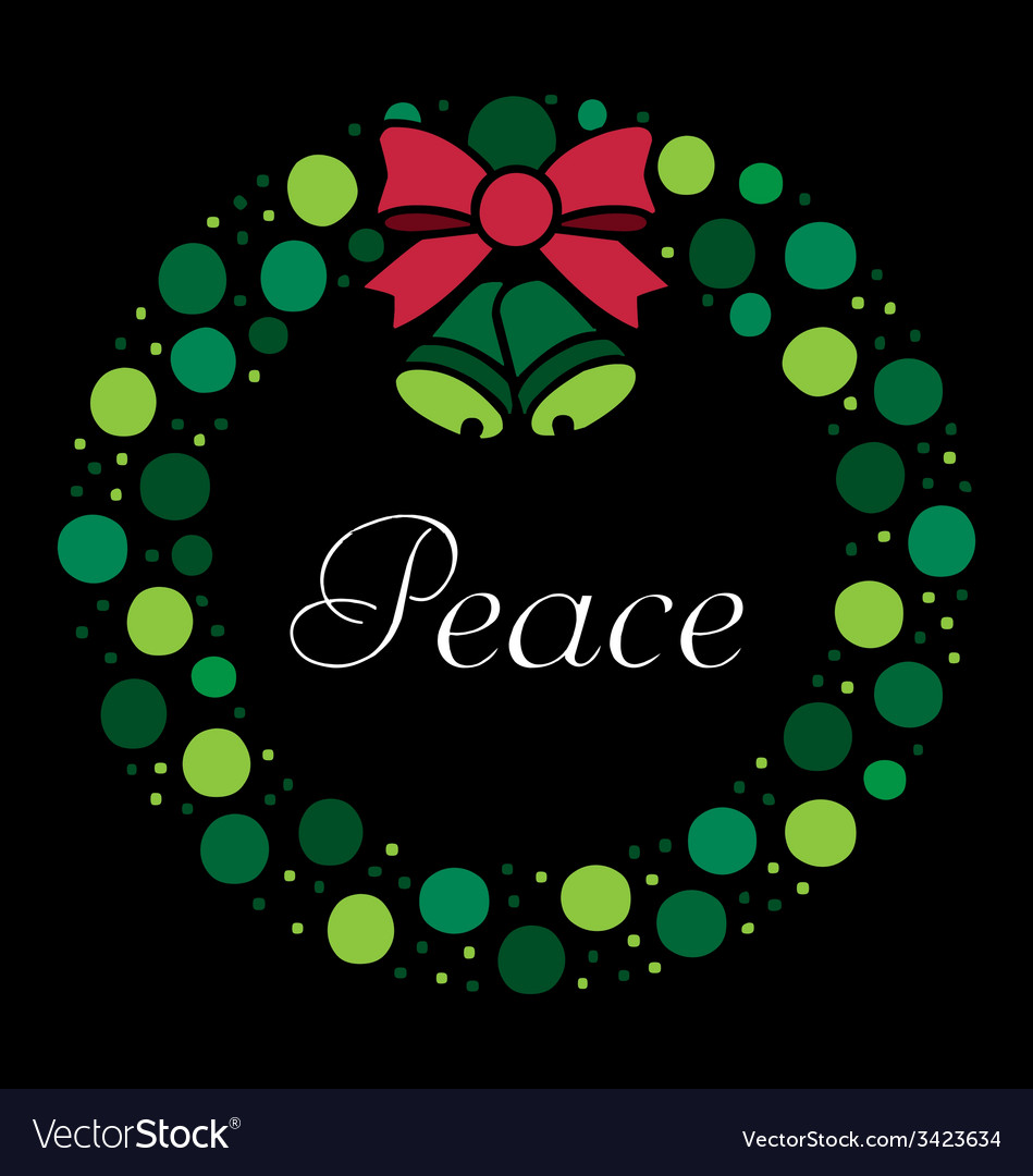 Holiday wreath vector   Price: 1 Credit (USD $1)