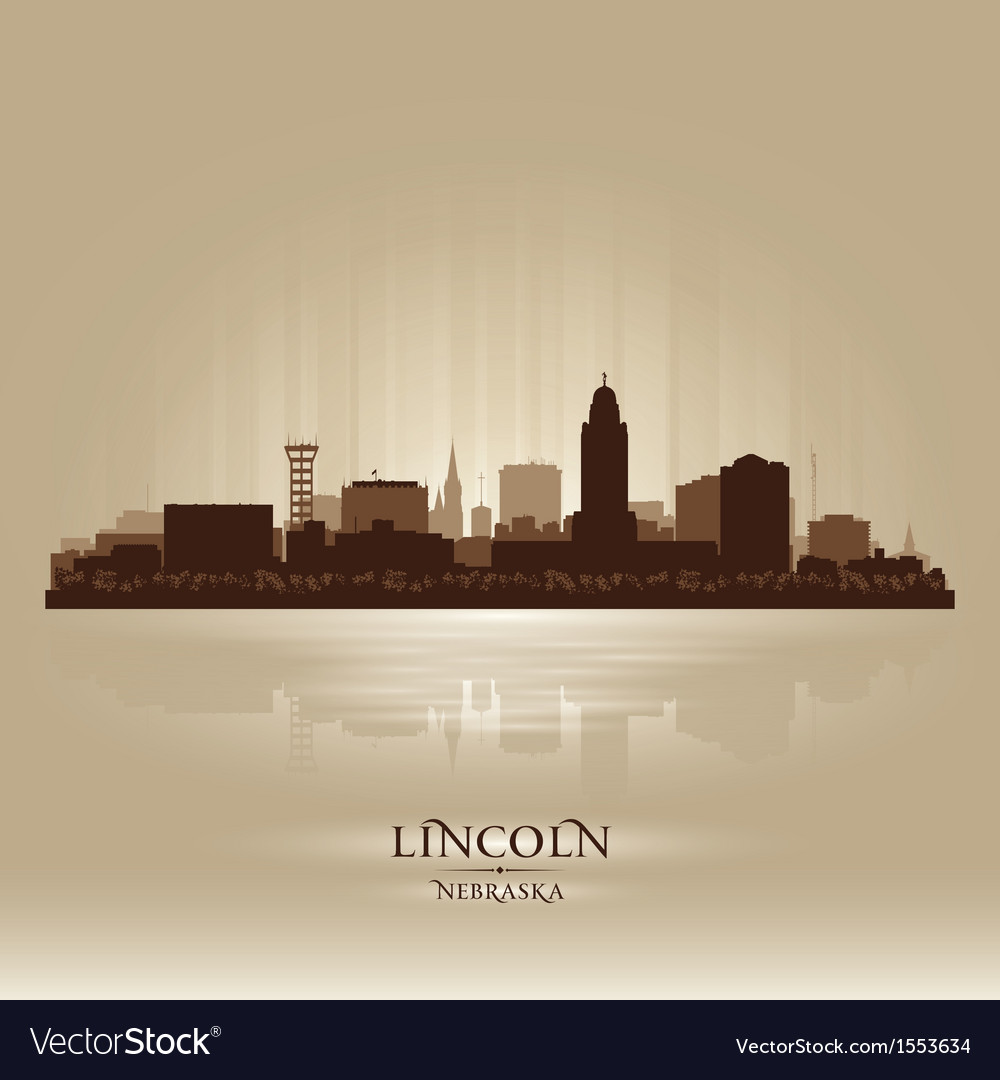 Lincoln nebraska city skyline silhouette vector | Price: 1 Credit (USD $1)