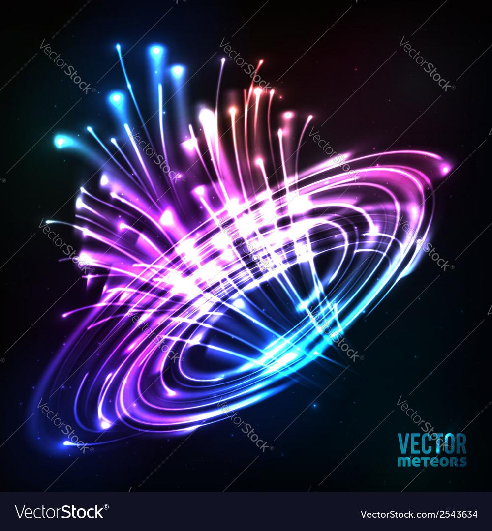 Neon lights cosmic explode vector   Price: 1 Credit (USD $1)