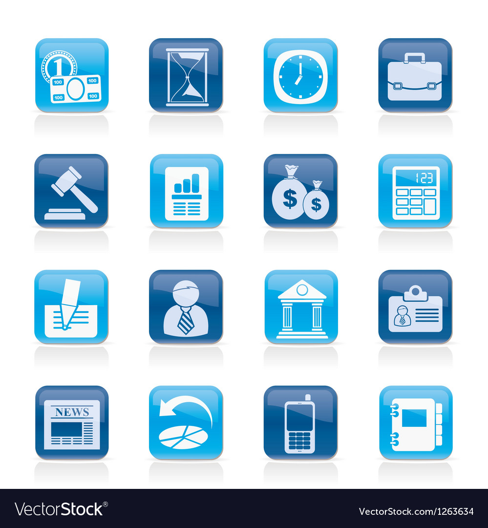 Office and finance icons vector | Price: 1 Credit (USD $1)
